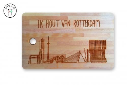 Broodplank en Snijplank Ik hout van Rotterdam