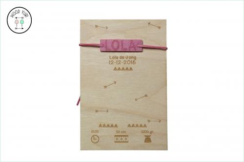 Geboortekaartje Hout en Vilt Lola