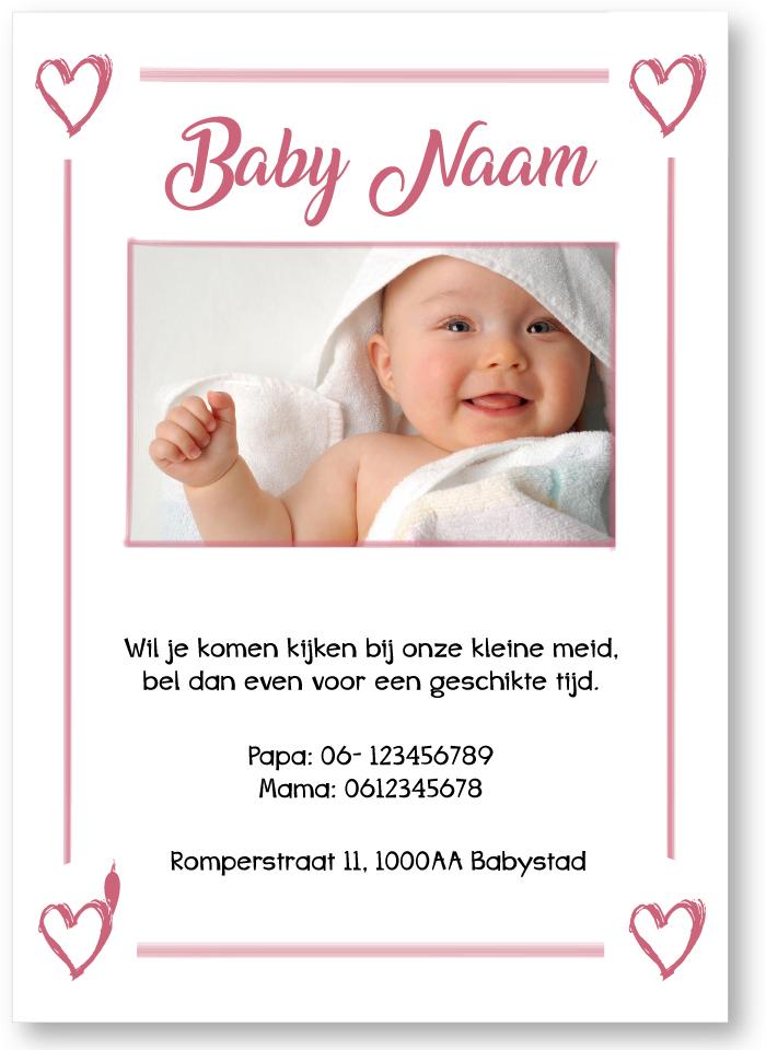 Voorbeeld gratis tekstkaartje