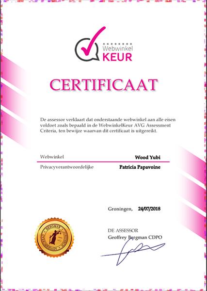GDPR VAG certificaat