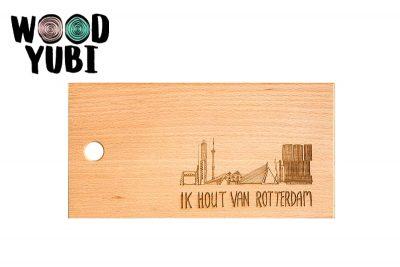 Snijplank Ik hout van Rotterdam 1