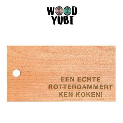 Snijplank Een echte Rotterdammert ken koken