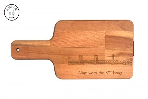 Snij- broodplank van massief beuken stroken, de brug van Spijkenisse
