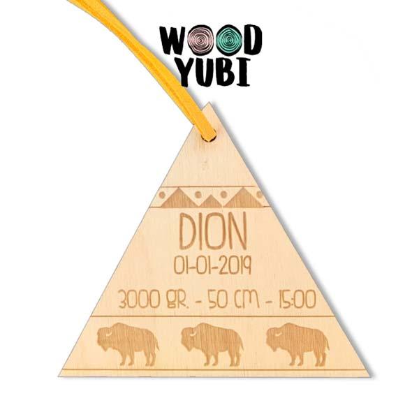 Houten Geboortekaartje Tipi Dion