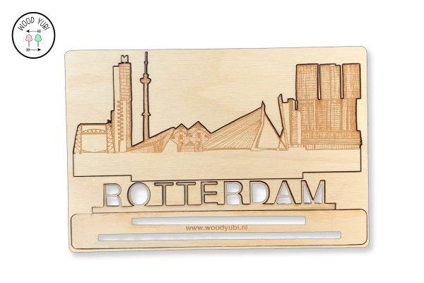 Wenskaart Rotterdam, Gegraveerd in hout en 3d uitgesneden