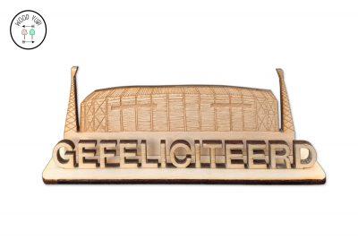 houten wenskaart kuip