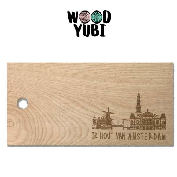 Snijplank Ik hout van Amsterdam