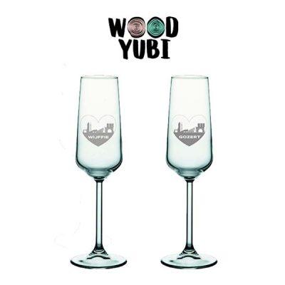 Champagneglas Set Valentijn 1
