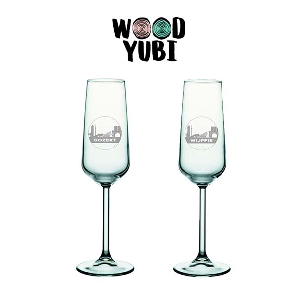 Champagneglas Set Valentijn 2