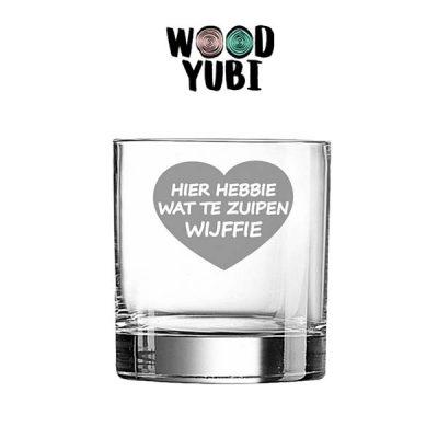 Whiskeyglas Zuipen Wijffie