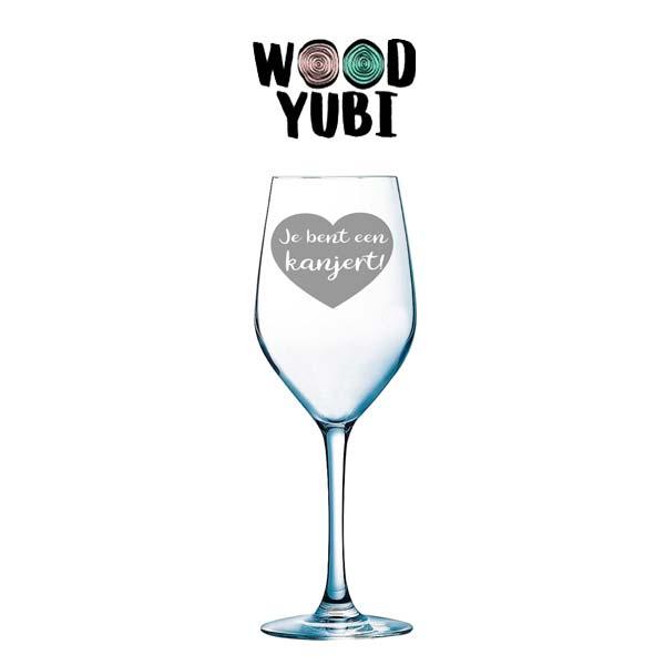 Wijnglas Je bent een kanjert 1