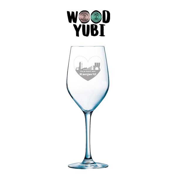 Wijnglas Pa je bent een kanjer