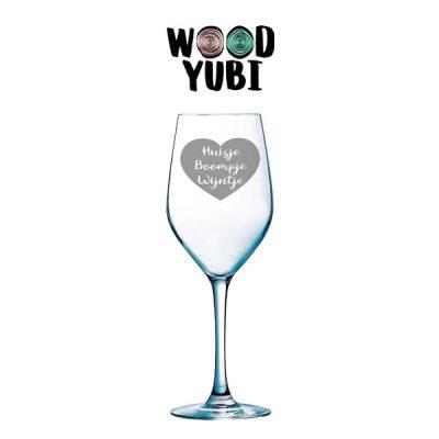 Wijnglas Huisje