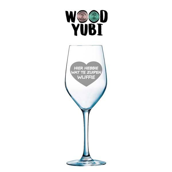 Wijnglas Zuipen Wijffie