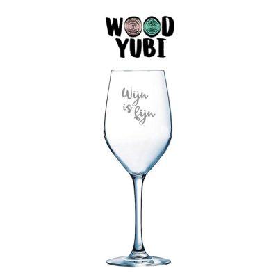 Wijnglas wijn is fijn