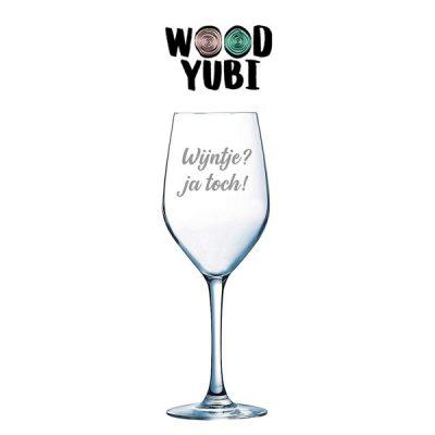 Wijnglas Wijntje? ja toch!