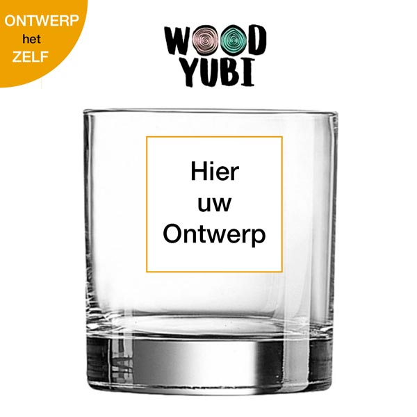 Whiskeyglas Eigen ontwerp